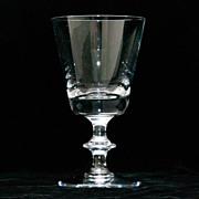 Val St. Lambert State Plain White Wine Glass