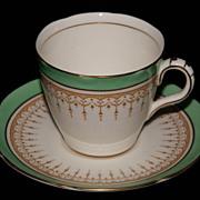 Vintage Royal Doulton Duke of York Green Demitasse Tea Cup