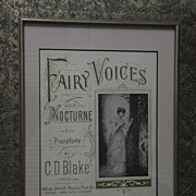 SALE Fairy Voices Framed Sheet Music by C. D. Blake
