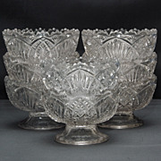 SALE PENDING Set of Eight (8) EAPG Berry or Dessert Bowls - Madora Pattern