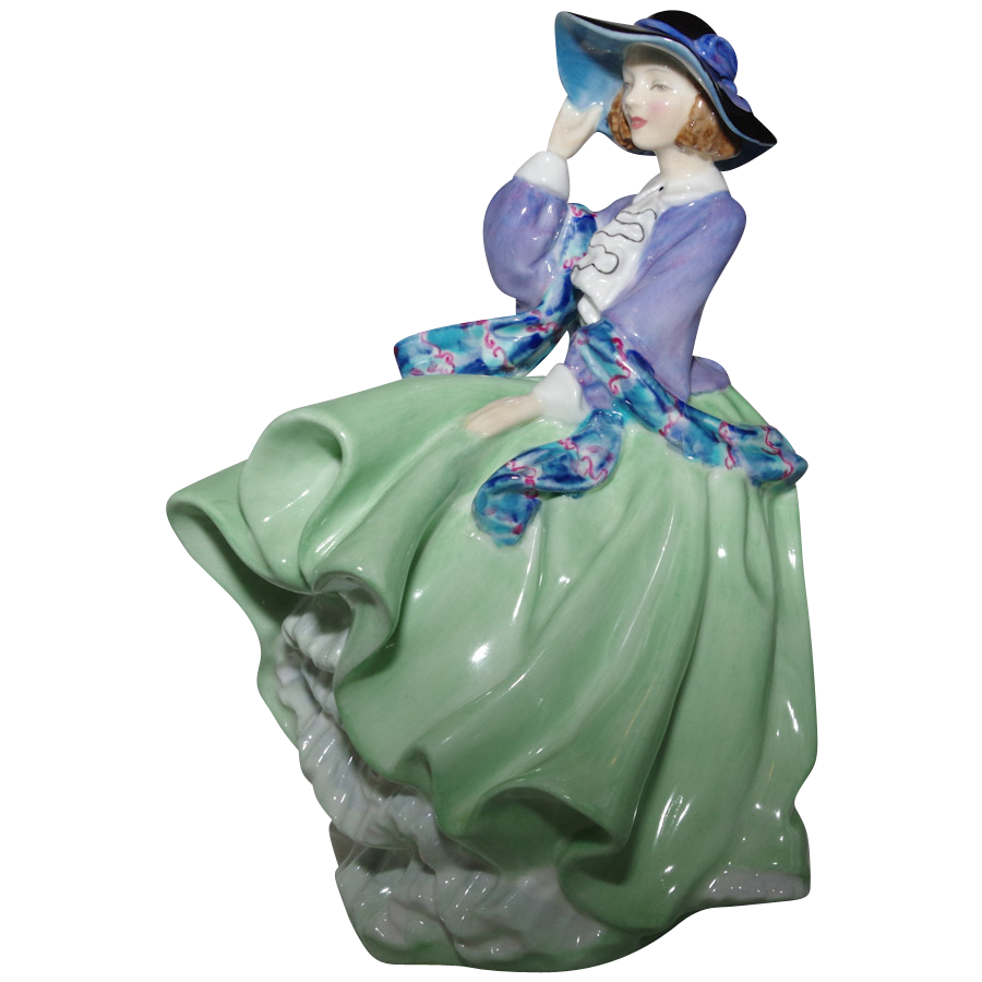 Royal Doulton Quot Top O The Hill Quot Figurine In Green 1937