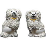 """Pair Staffordshire Extra Curly Poodles - Small Size - 3"""" Tall"""