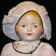 """SALE 16"""" Century Composition Toddler or Baby Doll - Original Clothing"""