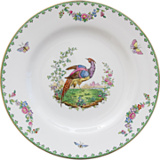 Copeland Spode R3856 Luncheon or Salad Plate - Pheasant  with Floral Swags and Butterflies - .