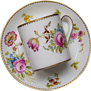 SALE Gorgeous Hand Painted and Signed Foley Bone China Demitasse Cup and Saucer by Elijah ...