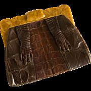 SALE Vintage Armadillo Purse or Handbag - Unique Clutch Style