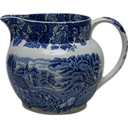 Woods Ware Blue and White Pitcher - Enoch Wood's English Scenery - Wood & Sons England
