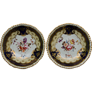 SALE Pair of Early 19th Century H & R Daniel Side Dishes - Pattern 4058