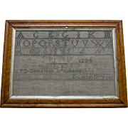 19th Century Sampler by Eleanor W. Kelley