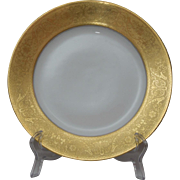 Rosenthal Gold Encrusted Dinner Plate