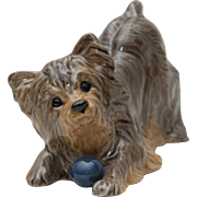 SOLD Signed Silky Terrier Dog Figurine
