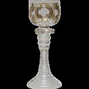 Bohemian Moser Roemer Wine Art Glass