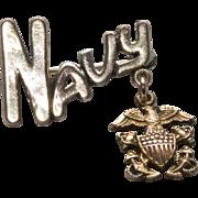 WW2 Era Navy Sweetheart Pin by Amico