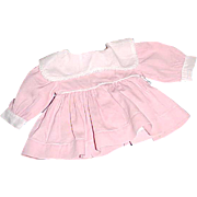 "Pink dress with attached panties white bib collar 7"" L for 13"" Tiny Tears Dydee ..."