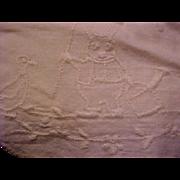 Antique embroidered white baby bib, Criterion undershirt, socks, blanket, flannel bed coat 4 .
