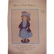 SALE Uncut Byron Doll Pattern for Crescent Bru Georgette
