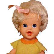 "SOLD 8"" Mattel Baby Luv all original 1968 and 2"" Kiddle"