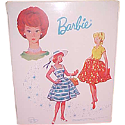 SALE White Barbie large case patent leather look vinyl 1964 Great condition