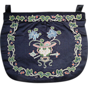 REDUCED Vintage Chinese Silk Forbidden Stitch Embroidered Purse