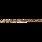 Antique Victorian G.F. Fancy Reversible Book Chain Bracelet