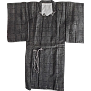 Vintage Japanese Salesman's Sample Miniature Man's Kimono Signed
