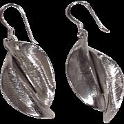 Vintage Modernist Sterling Organic Motif Dangle Earrings