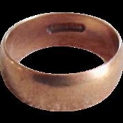 Antique Solid 18K Rose Gold Wedding Band Ring