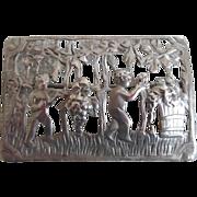 Vintage Solid Sterling Silver Cast Italian Cherub Pin