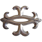 1060's Navajo Sterling Silver Solid Sand Cast Brooch/Pin