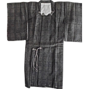 Vintage Japanese Miniature Man's Kimono Signed