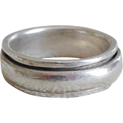 Vintage Sterling Silver Scandinavian Style Cigar Band Ring