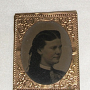 Victorian Miniature Dollhouse Framed Tin Type