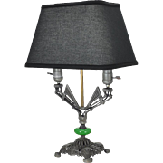 Art Deco Style Table Lamp with Two Lights Double Socket Desk Light (ANT-529)