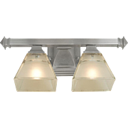 Mission Craftsman or Arts & Crafts 2 Light Wall Sconce Brushed Nickel (ANT-617)