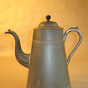 American Tin Coffee Pot ~ Ca 1875