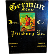Early 20th C. Insurance Sign Pittsburg, PA