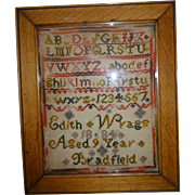 Small 19th. century sampler
