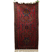1920's Art Deco Hand Knotted Persian Oriental Area Rug Runner