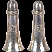 Chicago Arts Crafts Sterling Silver Salt Pepper Shakers Falick Novick
