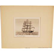"""Ann McKim"" of Baltimore First American Clipper Sailing Engraving by Wilson"