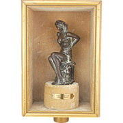 "Bronze Sculpture Semi-nude Woman in Lingerie ""Anziehende"" Attractive  Lothar Dietz"