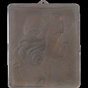 Circa 1905 Bronze Plaque Profile of German Poet Friedrich Schiller