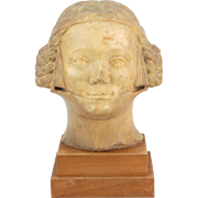 14th Century Head of a French Noble Woman Bust from Milwaukee Art Museum