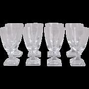 Set 8 Vintage Mid-Century Modern Cut Crystal Water Glasses Nude Water Bearer
