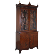 Federal Flame Mahogany Bookcase China Cabinet by Danersk