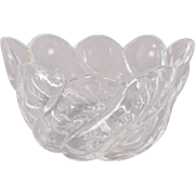 Steuben Art Deco Crystal Glass Oval Bowl Swirl Shape Bubbles Circles Pattern