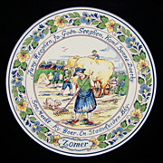 Royal Goedewaagen Summer Zomer 4 Seasons plate Holland