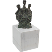 Abstracted Modern Bronze Sculpture of Choral Quintent Elongated Necks