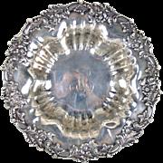 Frank Herschede Art Nouveau Sterling Silver Serving Bowl Monogrammed H