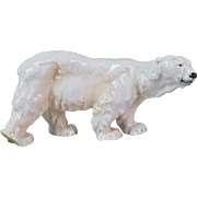 1905 Meissen German Porcelain Figure of Polar Bear by Otto Jarl